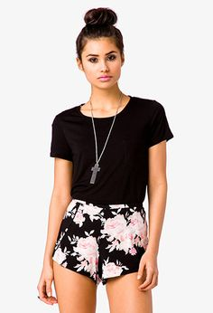 Lace Back Pocket Tee | FOREVER21 - 2024946457