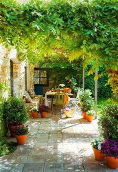 Love this dreamy outdoor patio