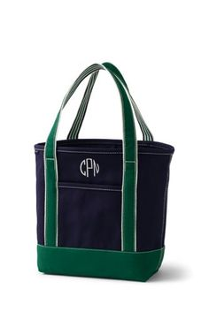 Try our Medium Two-Tone Open Top Canvas Tote Bag at Lands' End. Everything we sell is Guaranteed. Land's End, Uncommon Gifts, Canvas Tote Bags, Shopping Bag, Gym Bag, My Style, Period, Collection, Medium