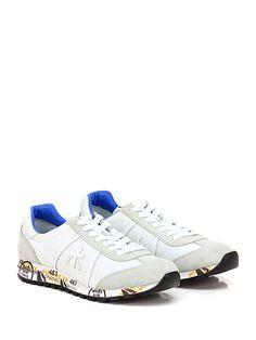PREMIATA - Sneakers - Uomo - Sneaker in tessuto tecnico, pelle e camoscio  con suola in gomma, tacco 30, platform 15 con battuta 15. - 206 BIANCO\ICE  - € ...
