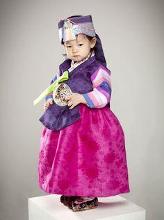 baby girl, Korean, hanbok