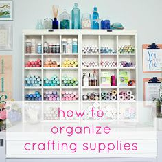 Have your sights set on an organized crafting space, but don't know where to start? Here are five ways to stop supplies from piling up!