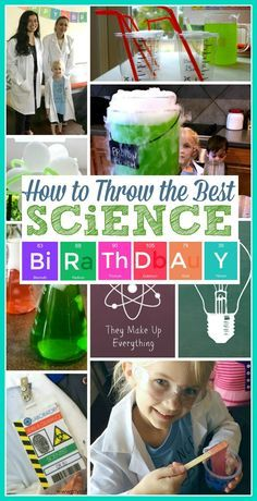 Science Birthday Party | Mad Science DFW | Scientist Birthday | Mad Science Birthday | Beakers | Lab Coats | Proton Punch | Atom Krispies | Science Printables | Kandy Apple Mama