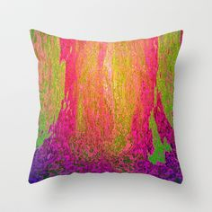 Abstract Lava Throw Pillow by MehrFarbeimLeben - $20.00