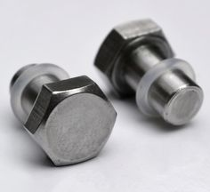2g Bolt Spacers / Plugs - body jewelry for stretched ears