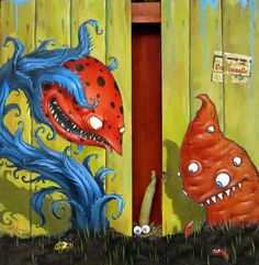 Mateo DINEEN :: ThereGoesThe-Neighborhood picture by lamafou - Photobucket Arte Alien, Alien Art, Cute Monsters, Carnivorous Plants, Lowbrow Art, Various Artists, Photo Illustration, Art Drawings, Whimsical