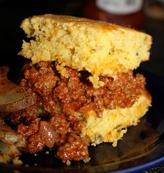 This recipe is SOOOO simple, and my husband went CRAZY for this cornbread. First, make my homemade sloppy joes (click here for t...