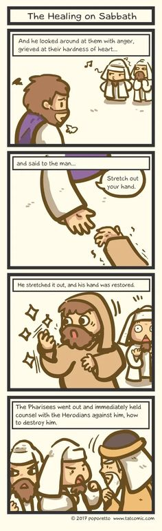 Book of Mark - The Healing on Sabbath - This And That Comic