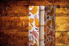 Caderno com costura Copta Etíope e capa em tecido de algodão. Estampa de passarinhos compõem esse tecido divertido!