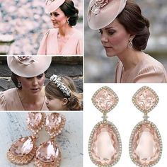 "1,003 Likes, 6 Comments - WWKD's repliKate Database (@wwkd_replikate) on Instagram: ""Kate accessorized with a new pair of Kiki McDonough morganite drop earrings for the wedding…"""