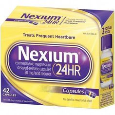 Nexium Delayed Release Heartburn Relief Capsules with Esomeprazole Magnesium Acid Reducer - Medicine For Heartburn, Treatment For Heartburn, Acid Indigestion, How To Relieve Heartburn, Heartburn Symptoms, Natural Remedies For Heartburn, Reflux Symptoms, Heartburn Relief, Reflux Disease