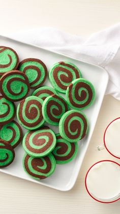 No mixer required! These simple sugar cookies start with a mix and require just a few ingredients. Make sure to allow two hours freezing time for the prepared dough—that's what makes the pinwheels easy to slice.