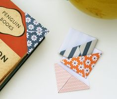 Origami bookmarks