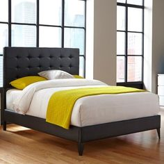 Fashion Bed Group Sullivan Upholstered Bed, Black