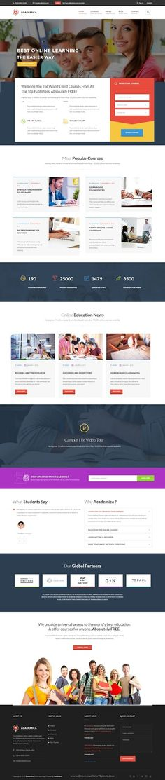 Academica Best Education Center WordPress Theme