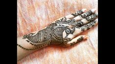 Most stunning trendy peacock design 2018 Henna Mehndi, Hand Henna, Peacock Design, Mehndi Designs, Indian, Traditional, Tattoos, Tatuajes, Tattoo