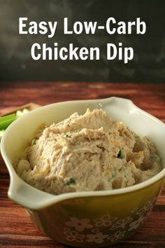 Easy Low-Carb Chicken Dip - YoursAndMineAreOurs.com - #AppetizerWeek #Anolon @Anolon