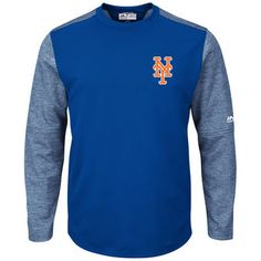 Majestic New York Mets Royal Authentic Collection On-Field Fleece Pullover Sweatshirt #mets #nymets #mlb
