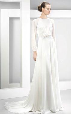 Wedding dress idea; Featured Dress: Jesús Peiró
