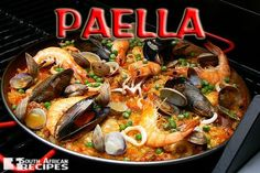 Spain is amazing. Spanish food is amazing. Paella is amazing. Ready for holiday paella! Paella Pan, Seafood Paella, Paella Food, Spanish Dishes, Spanish Food, Spanish Cuisine, Spanish Paella Recipe, Seafood Recipes, Gastronomia