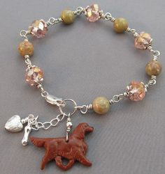 Talking Dogs at For Love of a Dog: Irish Setter Dog Lover Holiday Jewelry Gifts