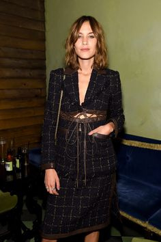 Alexa Chung Photos Photos - Alexa Chung attends Rosetta Getty's party in celebration of her Spring 2017 Collection, presented by John Terzian & Markus Molinari of The h.wood Group, at Rose Bar, Gramercy Park Hotel on September 6, 2016 in New York City. - Rosetta Getty Celebrates SS17 at NYFW