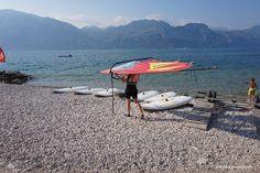 Windsurfing Action at Lago di Garda.
