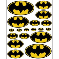 INSTANT DOWNLOAD Batman 5 sizes for Balloon Stickers by Inulja