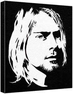 Kurt Cobain Pop Art Painting (100% Original Painting. Not a Print!) Acrylic Paint On Large Deep Canvas; 2-Colour Black/White Paintedicons http://www.amazon.co.uk/dp/1057544299/ref=cm_sw_r_pi_dp_VdIQtb0K6277JF55  Want a hallway to have artwork of great musicians/songwriters and quotes from them.