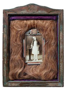 britthuff:      S. O. Helgeson  Photograph of Mary H. Helgeson surrounded by her actual hair, 1930    OH MY