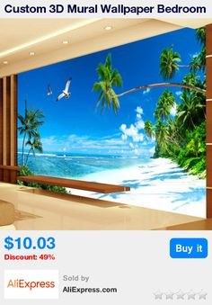 Custom 3D Mural Wallpaper Bedroom Sofa TV Background Wall Papers Home Decor Beach Coconut Grove Modern Wall Painting Wallpaper * Pub Date: 08:28 Apr 13 2017