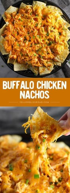 Buffalo Chicken Nachos – Your hungry game day crowd will love this easy appetizer! Buffalo Chicken Nachos – Your hungry game day crowd will love this easy appetizer! Chicken Nachos Recipe, Chicken Salad, Chicken Meals, Easy Nachos Recipe, Caprese Chicken, Chicken Tacos, Baked Chicken, Buffalo Chicken Nachos, Buffalo Chicken Casserole