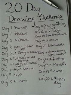 20 Day Drawing Challenge