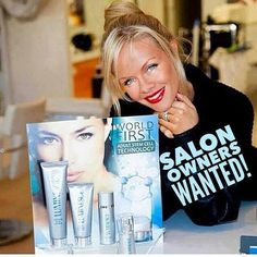 Looking for Salon Owners who want to boost their business and services to their customers with Jeunesse Global exceptional products: Instantly Ageless and the award-winning Luminesce skincare line. http://www.b4everageless.jeunesseglobal.com
