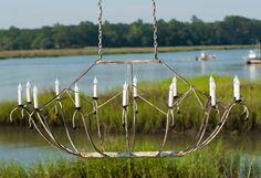 Spring Island Ark Oval Basket Chandelier
