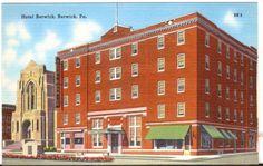 Undated Unused Postcard Hotel Berwick Pennsylvania Pa
