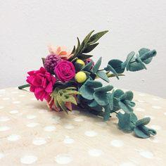 Felt flower bouquet // faux flowers // floral arrangement //