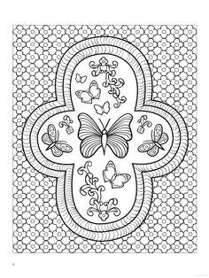 coloring for adults - kleuren voor volwassenen Pattern Coloring Pages, Cute Coloring Pages, Printable Coloring Pages, Adult Coloring Pages, Coloring Books, Butterfly Fairy, Butterfly Design, Butterfly Coloring Page, Alphabet Coloring