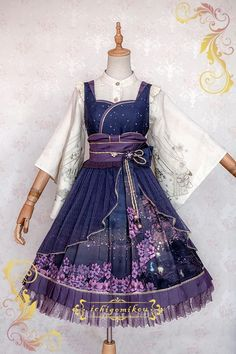 IchigoMiko -Fantastic Night By The River of Sakura- Wa Lolita JSK Version I,Lolita Dresses, Cosplay Outfits, Dress Outfits, Fashion Dresses, Kawaii Fashion, Cute Fashion, Trendy Fashion, Pretty Dresses, Beautiful Dresses, Moda Lolita