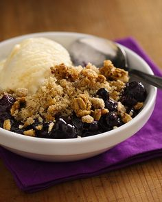 Blueberry Crisp Fritter Recipe WWPoints+= 4 .... would be great with cool whip on top or icecream