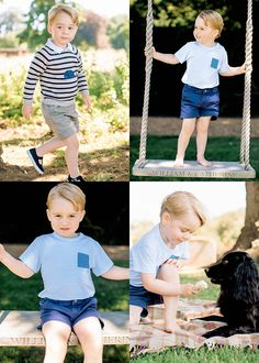 The Duke and Duchess of Cambridge have released four official photos of Prince George to mark his third birthday. The pictures were taken by Matt Porteous at Anmer Hall, the Duke and Duchess's family home in Norfolk.