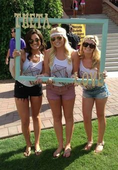 I really like this frame to take pics with on bid day!