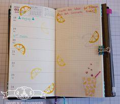 Stampin' Up! - Midori - Travelers Notebook - Filofaxing - Vollkommene Momente - Noch ein Tässchen - GLITZERWUNDERLAND