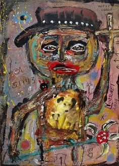 Peace and Love - Mixed Media on Paper - Louis Vuittonet.