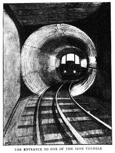 An image from The Graphic of 16 July 1898 showing the opening of the Waterloo & City Line.