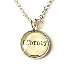 Harry Potter inspired Tiny book necklace series kitsch kawaii retro jewellery