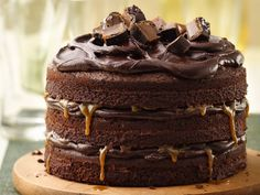 Tall, Dark and Stout Chocolate Layer Cake  Recipe from Betty Crocker