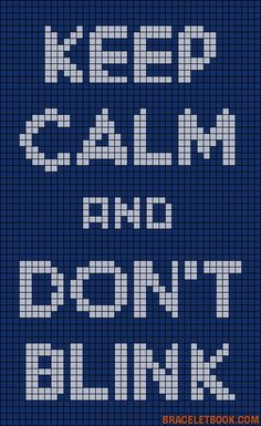 Keep Calm And Don't Blink - Doctor Who perler bead pattern
