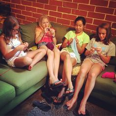 As always, knitting happens any time and every time during #freetime at the 508…