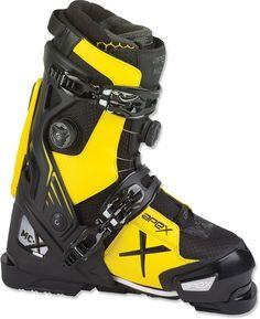 Apex Ski Boots Unisex Mc-X Big Mountain Performance Ski Boots - Men's Ski Boots, Hiking Boots, Ski Fashion, Fashion 2018, Big Mountain, Snow Skiing, Outdoor Outfit, Black N Yellow, Black Boots